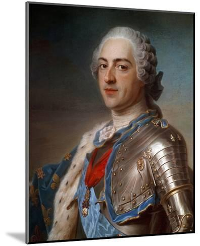 Portrait of Louis XV (1710-1774) in Armor - by Quentin Delatour--Mounted Giclee Print