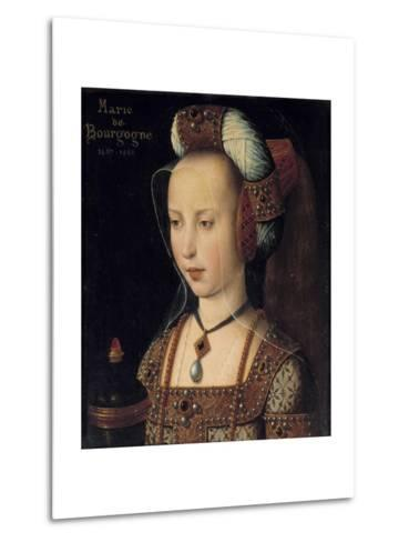 Portrait of the Duchess Mary of Burgundy--Metal Print