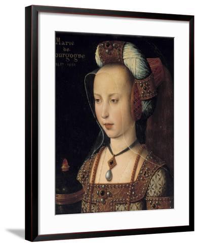 Portrait of the Duchess Mary of Burgundy--Framed Art Print