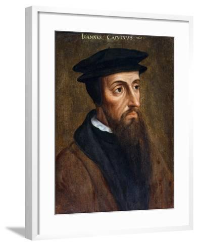 Portrait of John Calvin--Framed Art Print