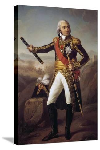 Portrait of Jean Baptiste, Comte Jourdan by Eugene-Louis Charpentier--Stretched Canvas Print