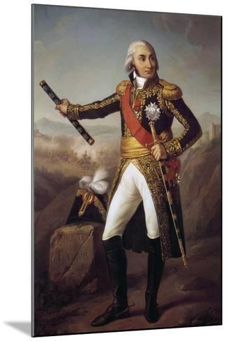 Portrait of Jean Baptiste, Comte Jourdan by Eugene-Louis Charpentier--Mounted Giclee Print