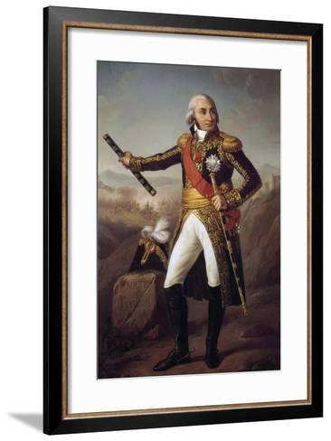 Portrait of Jean Baptiste, Comte Jourdan by Eugene-Louis Charpentier--Framed Art Print