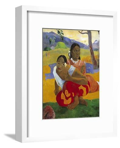 When Will You Marry? by Paul Gauguin--Framed Art Print