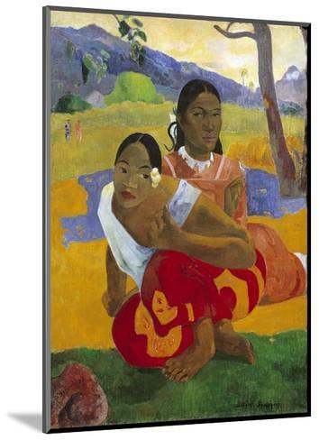 When Will You Marry? by Paul Gauguin--Mounted Giclee Print