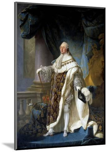 Portrait of King Louis XVI by Antoine-Francois Callet--Mounted Giclee Print
