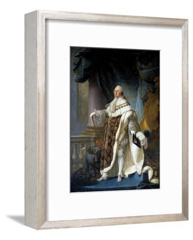 Portrait of King Louis XVI by Antoine-Francois Callet--Framed Art Print