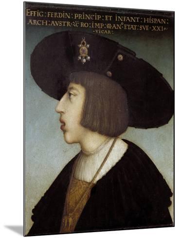 Portrait of Ferdinand I by Hans Maler Zu Schwaz--Mounted Giclee Print