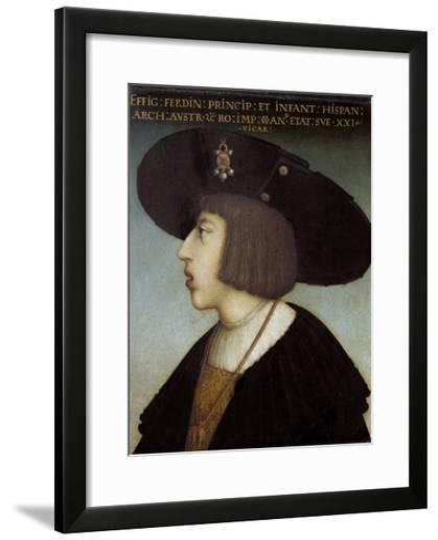 Portrait of Ferdinand I by Hans Maler Zu Schwaz--Framed Art Print