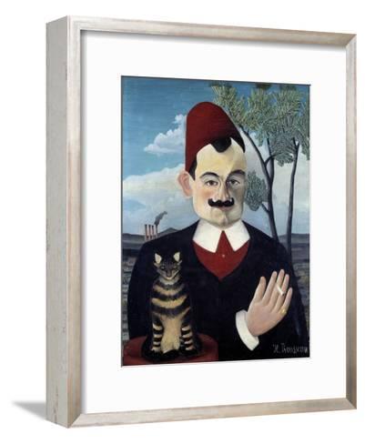 Portrait of Pierre Loti by Le Douanier Rousseau--Framed Art Print