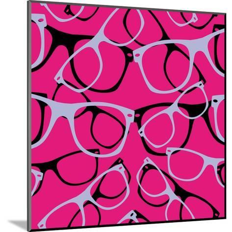 Glasses Seamless Pattern Retro Sunglasses. Vector Abstract Background- mvasya-Mounted Art Print