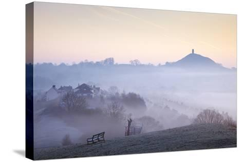 Glastonbury Tor from Wearyall Hill, Somerset, UK-Nick Cable-Stretched Canvas Print