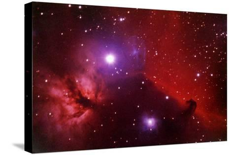 Horsehead Nebula in the Belt of Orion-a. v. ley-Stretched Canvas Print