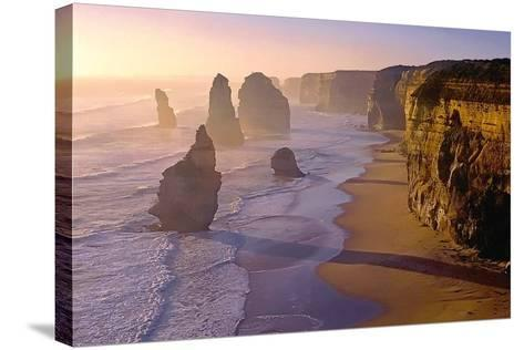 Sunset at the Twelve Apostles-TGR Photography-Stretched Canvas Print