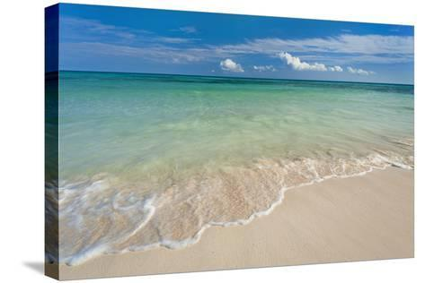 Mexico, Yucatan, Sandy Beach and Turquoise Sea-Tetra Images-Stretched Canvas Print