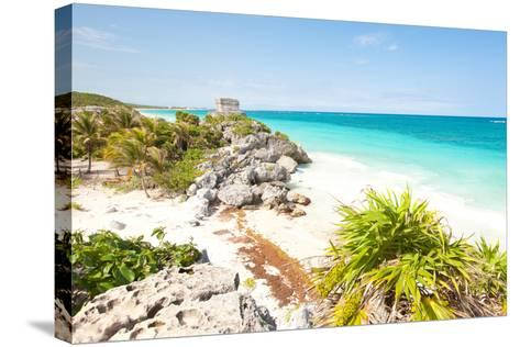Tulum Ruins-M Swiet Productions-Stretched Canvas Print