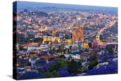 Historical Centre of San Miguel De Allende at Dusk-Jeremy Woodhouse-Stretched Canvas Print