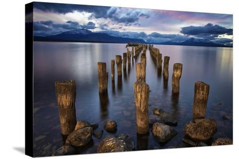 Puerto Natales Pier-Jimmy McIntyre-Stretched Canvas Print