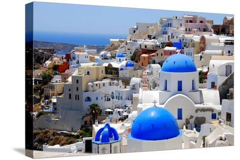 Village of Oia-Dimitris Sotiropoulos Photography-Stretched Canvas Print