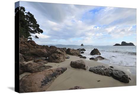 Beach on the Morning-Raimund Linke-Stretched Canvas Print