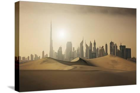 Futuristic City in the Desert-Buena Vista Images-Stretched Canvas Print