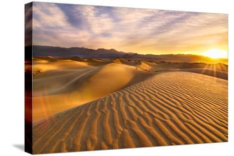 Rippled Sand Dunes at Sunrise-Laura Knauth-Stretched Canvas Print