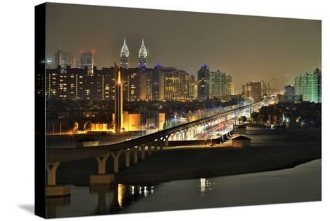 Palm Jumeirah Monorail to Atlantis Hotel Dubai-Xu Jian-Stretched Canvas Print
