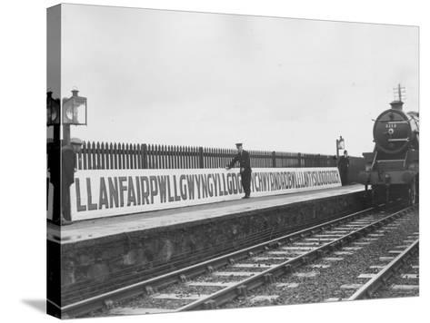 Welsh Station-Fox Photos-Stretched Canvas Print