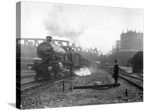 Express Steam Train-Hulton Collection-Stretched Canvas Print