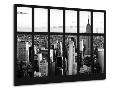 Window View - Landscape with the Empire State Building and the 1 WTC - Manhattan - NYC-Philippe Hugonnard-Metal Print