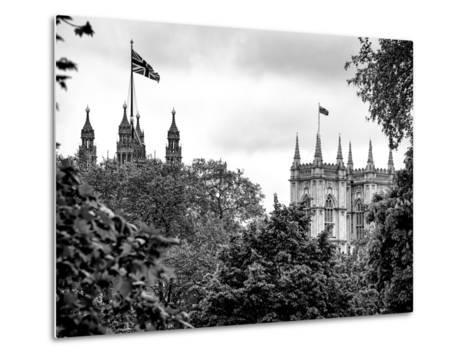 St James's Park with Flags Floating over the Rooftops of the Palace of Westminster - London-Philippe Hugonnard-Metal Print