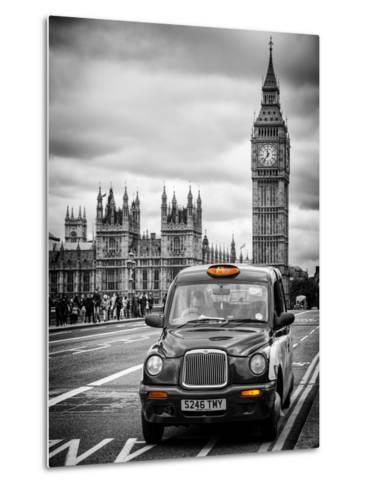 London Taxi and Big Ben - London - UK - England - United Kingdom - Europe-Philippe Hugonnard-Metal Print