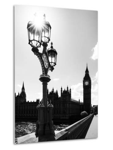 Royal Lamppost UK and Houses of Parliament and Westminster Bridge - Big Ben - London - England-Philippe Hugonnard-Metal Print