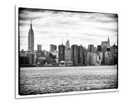 Landscape View Manhattan with the Empire State Building and Chrysler Building - New York-Philippe Hugonnard-Metal Print