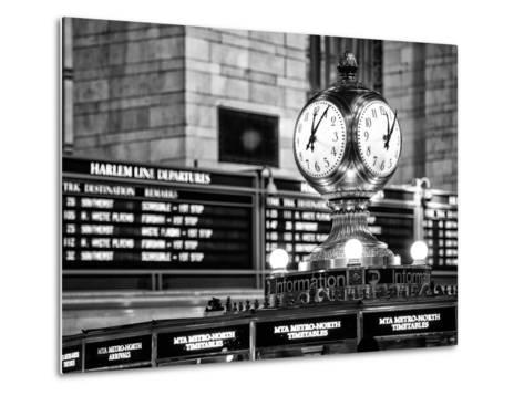 Grand Central Terminal's Four-Sided Seth Thomas Clock - Manhattan - New York-Philippe Hugonnard-Metal Print