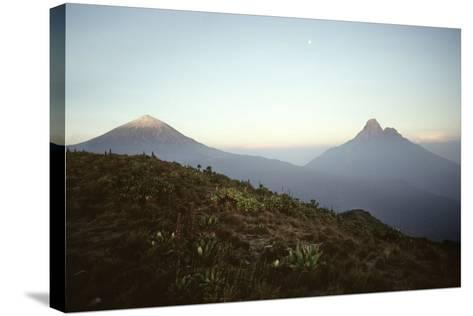 Rwanda Virunga Volcanoes, Karisimbi and Mikeno-Adrian Warren-Stretched Canvas Print