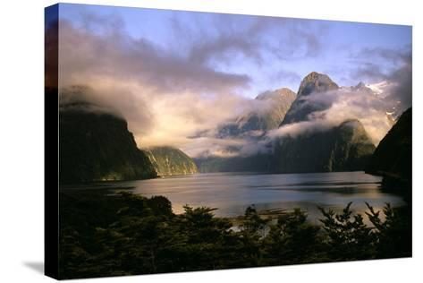 New Zealand Milford Sound During a Storm--Stretched Canvas Print