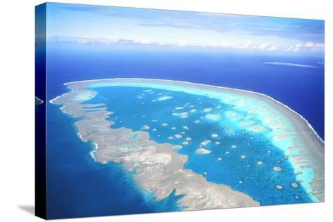 Great Barrier Reef Aerial View--Stretched Canvas Print