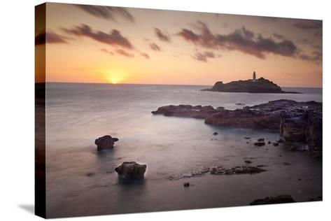 Godrevy Lighthouse Sunset--Stretched Canvas Print