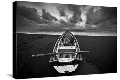 Boat, Monterico Beach--Stretched Canvas Print