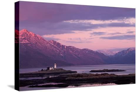 Evening Glow over the Lighthouse on the Isle of Ornsay--Stretched Canvas Print
