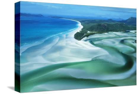 Australia Whitehaven Beach, Whitsunday Island--Stretched Canvas Print