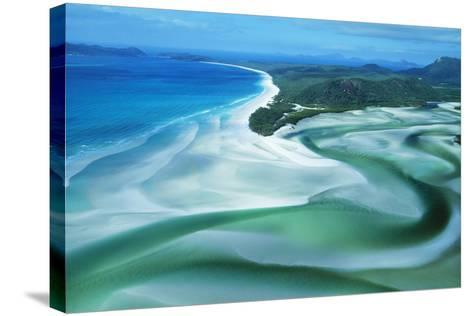 Australia Whitehaven Beach, Whitsunday Island--Stretched Canvas Print