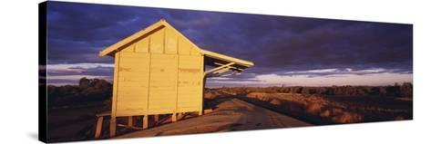 Australia Outback Railway Station Near Broken Hill--Stretched Canvas Print