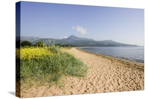 Northern Highlands on Arran Viewed from Beach--Stretched Canvas Print
