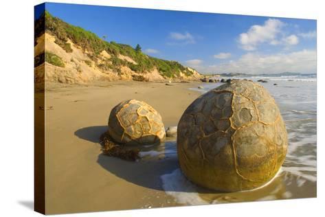 Moeraki Boulders Massive Spherical Rocks Which--Stretched Canvas Print