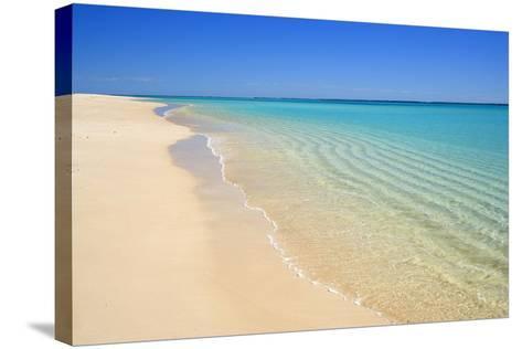 Dream Beach White Sandy Beach, Clear Turquoise--Stretched Canvas Print