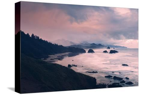 Milky and Stormy Morning at Cannon Beach, Oregon Coast-Vincent James-Stretched Canvas Print