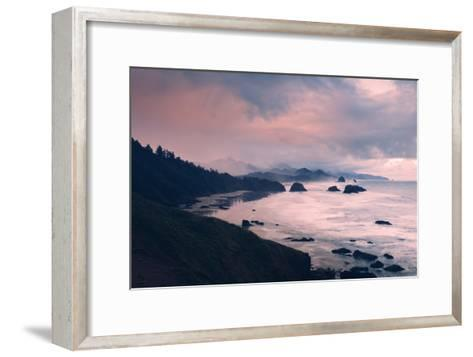 Milky and Stormy Morning at Cannon Beach, Oregon Coast-Vincent James-Framed Art Print