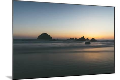Bandon Sunset Silhouettes, Oregon Coast-Vincent James-Mounted Photographic Print